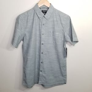 NWT Hurley short sleeve button down shirt size S